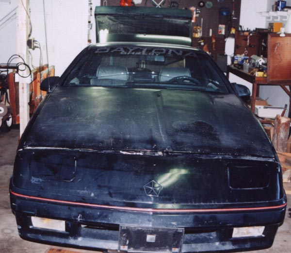 My mom's 1988 Shelby Z in the garage after purchase for teardown and rebuild.