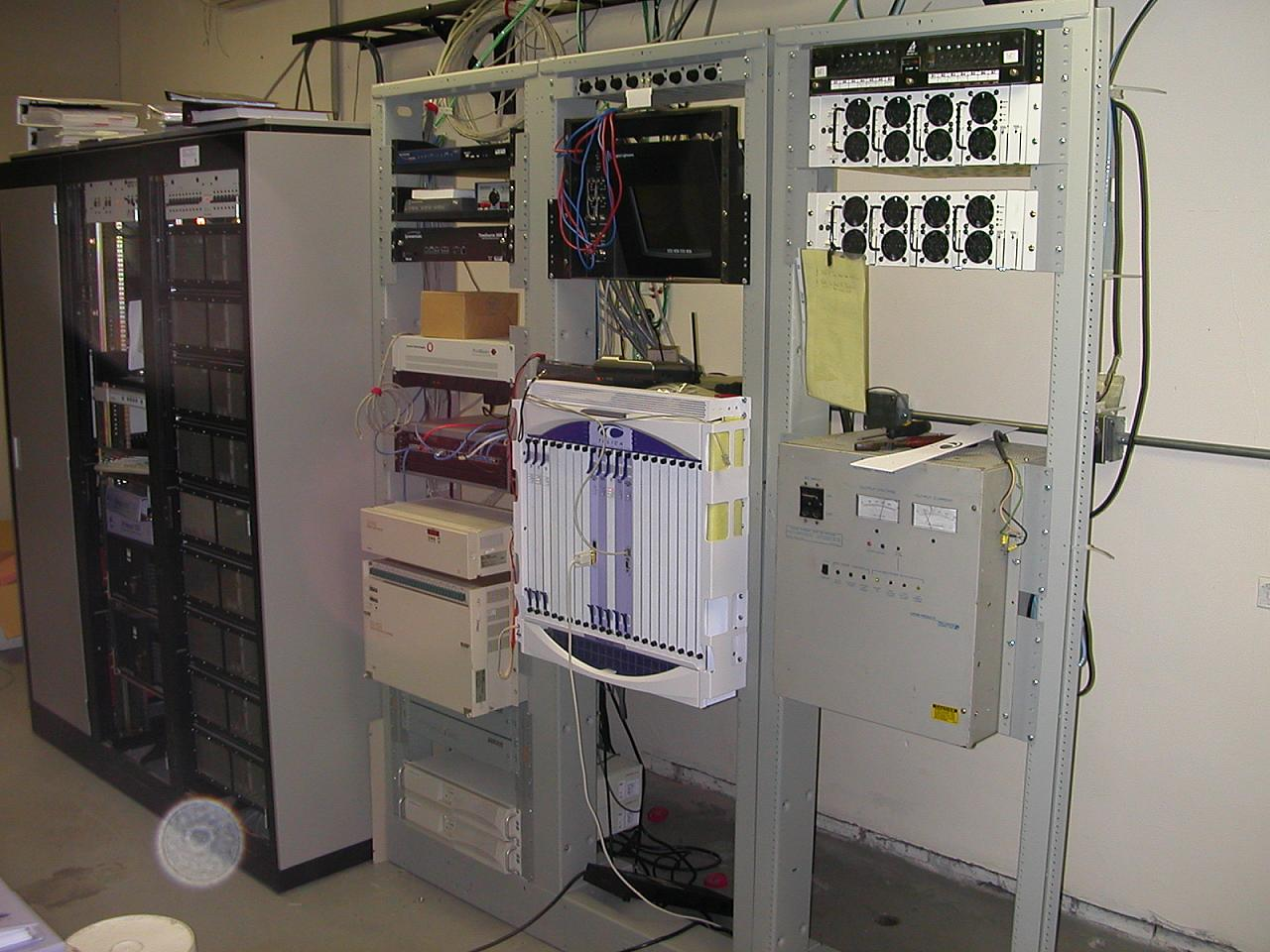 Main racks for this facility with power, switch, and muxes.