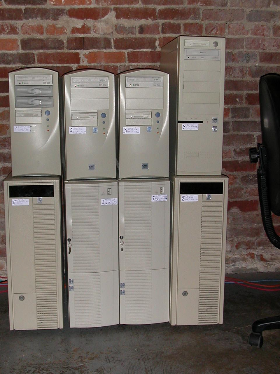 Old servers from an ISP we purchased that are currently not in use.
